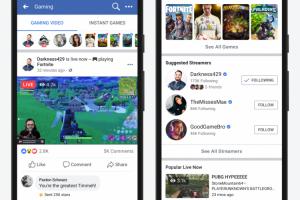 Facebook запустила страницу с игровыми стримами и будет помогать авторам-новичкам»