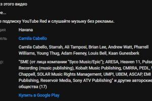 YouTube начнёт показывать полную информацию о музыке в видео»